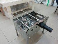 Мангал СамЖарыч с шампуровертом батарейки в комплекте