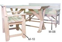 Скамейка с подлокотником М-08(800х500х1200)