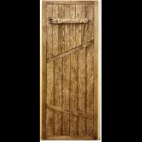 Дверь ДГ Банька с искусственным старением липа (сорт А) 1800*700