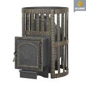 Банная чугунная печь Везувий Легенда Ковка 28 (224)