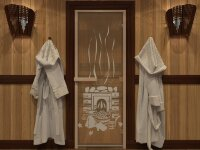 "Дверь DoorWood Art ""Банька"" (бронза) 190х70"