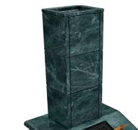 Облицовка из камня на трубу Президент  (змеевик 30мм) (270*270*930)