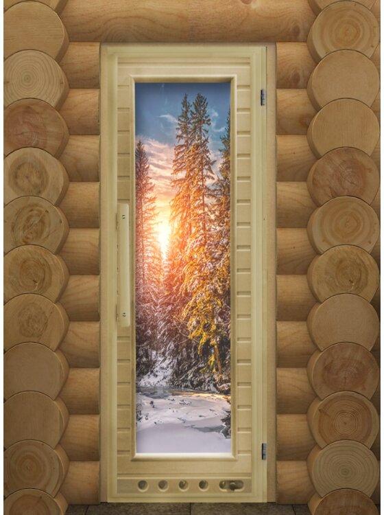 Дверь DoorWood ЭЛИТ ЛЮКС с рисунком Зима 184х74 с вентил