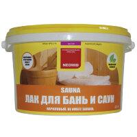 Неомид Sauna (1 л)-  лак акриловый для бань и саун