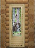Дверь DoorWood Элит Мишки  с вентиляцией 184х72