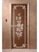 """Дверь DoorWood Art """"РОЗЫ"""" (бронза) 190х70"""
